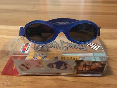 7e5511bfc2 Baby BANZ Sunglasses Infant Toddler 0-2 Sun Protection Velcro Blue VGUC  with Box