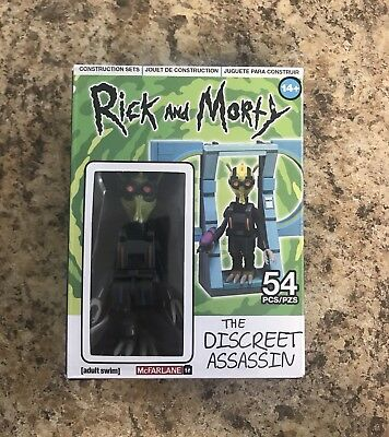 RICK AND MORTY DISCREET ASSASSIN KROMBOPULOS MICHAEL 54 PIECE BUILDING SET NEW