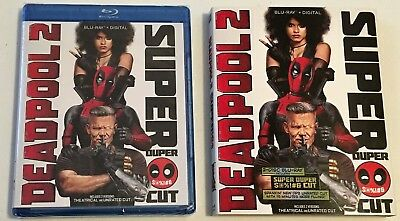 Deadpool 2 Super Duper Cut (Blu-ray + Digital, 2-Disc Set) NEW! w/Slipcover