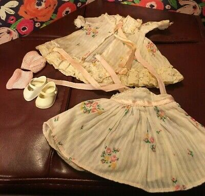 Medford Vogue Doll tagged robe and night gown set and Shoes