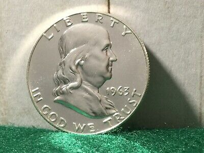 1963 P Franklin Half Dollar, Type 2 Proof with Full Bell Line