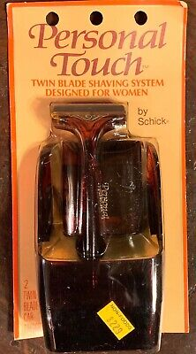NOS PERSONAL TOUCH Twin Blade shaving system by Schick +2 TWIN BLADE CARTRIDGES