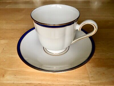 Lot of 6~Rosenthal Eminence Cobalt Blue Gold Footed Cup & Saucer