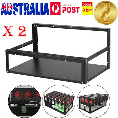 AU Crypto Coin Open Air Mining Case Computer ETH Miner Frame Rig Case For 6 GPU
