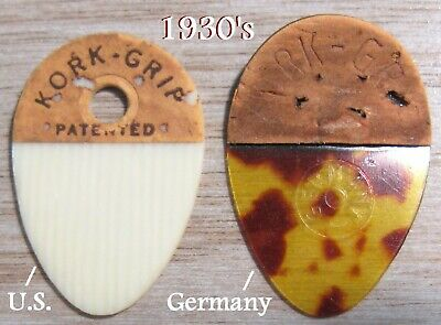 Kork Grip Vintage Guitar Picks c.1930 - Both U.S. & German Versions!!!