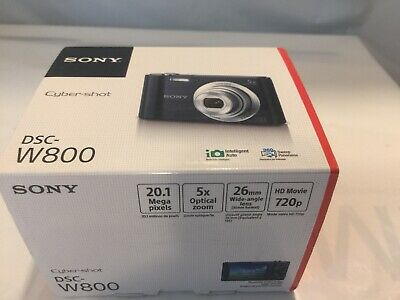 Sony Cyber-shot DSC-W800 20.1MP Digital Camera 5x Optical Zoom - Black * NEW *