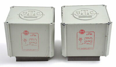 Nice Pair of UTC LS-65 Push Pull Output Transformers for 6550 Power Tubes