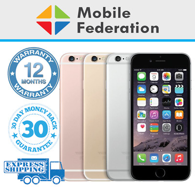 Apple iPhone 6S 16GB 32GB 64GB 128GB Unlocked Gold Silver Space Grey Rose Gold