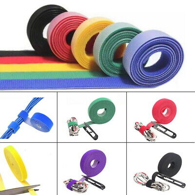 Reusable Double Sided Cable Tie Strap Hook and Loop Self Grip Roll Tape