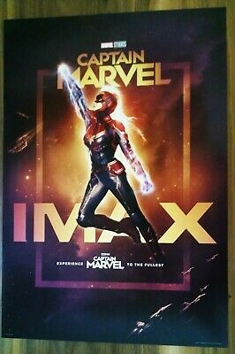 "Marvel Studios Captain Marvel Official Movie 13"" x 19 PREMIERE NIGHT IMAX Poster"
