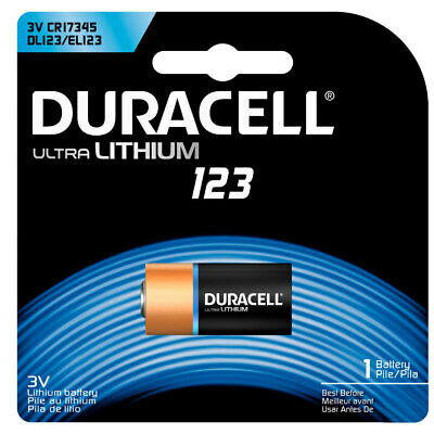 Duracell Ultra Lithium CR123 CR17345 DL123 3V Battery for Camera/Medical Devices