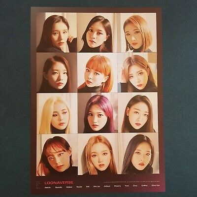 Group - Loona Mini Poster Loonaverse Concert Official MD Monthly Girl