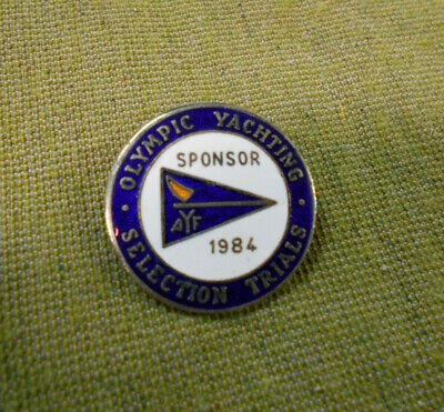 #d118.   1984 Olympic Yachting Selection Trials Lapel Badge