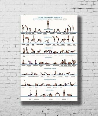 C1433 Yoga Exercise Bodybuilding Chart Art Silk Poster 20x30 24x36inch