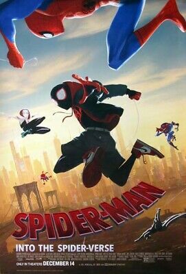 SPIDER-MAN: INTO THE SPIDER-VERSE orig 27x40 D/S movie poster LAST ONE (th049)