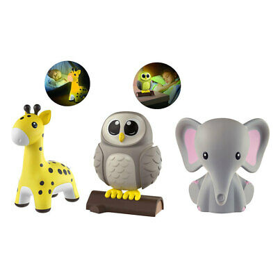 My Baby Homedics Nightlight Animals Sleep Night Light Bedside Lamp Toddler Kids