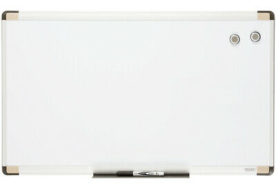 76cm Whiteboard/Aluminium Wall Frame/Picture Mountable/Magnetic w/ Marker