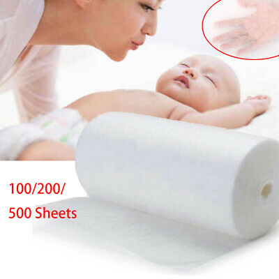 100/200/500 Sheets Baby Nappy Cloth Flushable Biodegradable Diaper Bamboo Liners