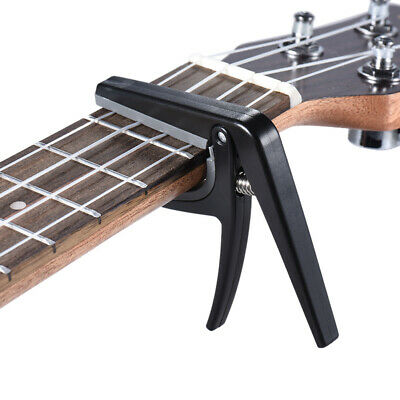Pro Plastic Steel Spring Trigger Quick Change Guitar Ukelele Capo Clamp Candy