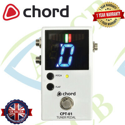 CHORD CPT-01 CHROMATIC TUNER PEDAL W/ WIDE TUNING RANGE A0 to C8 & LED SCREEN