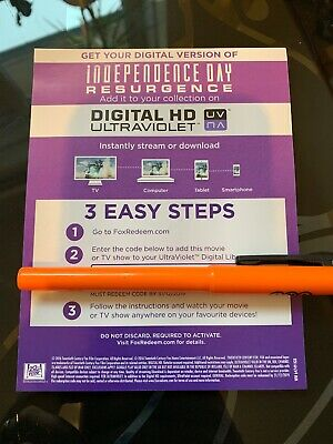 Independence Day Resurgence HD UV Download Code Ultraviolet