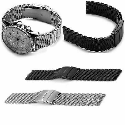 2f94f424d3e 20~24mm Shark Mesh Stainless Steel Watch Band Strap fits Breitlin Thick    Heavy