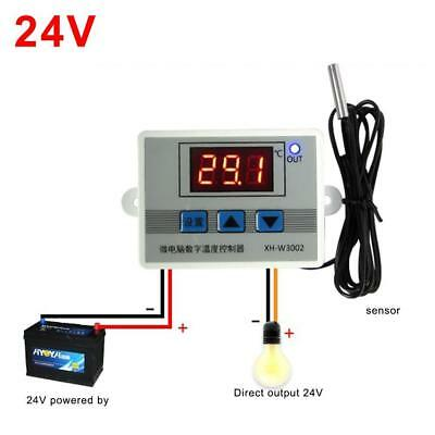 24V Digital LED Temperature Controller Thermostat Control Switch Probe BE