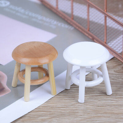 1:12 Dollhouse miniature furniture wooden stool chair room garden FEH