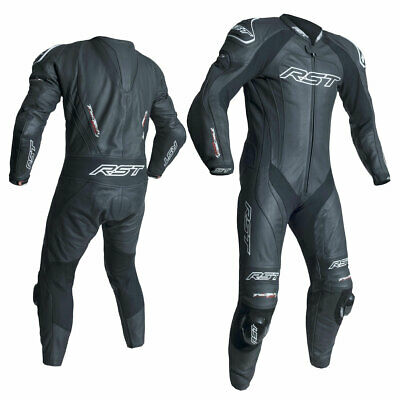 Make Offer RST Tractech Evo 3 One Pie Leather Motorcycle Suit Black Black 52 62