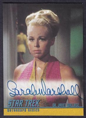 Star Trek Quotable Tos Autograph Sarah Marshall As Dr. Janet Wallace A95