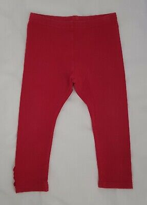 Bebe by Minihaha Baby Girls Red Leggings Size 18 months