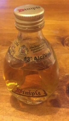 Collectable Vintage Haig Dimple Scotch Whiskey Sample Bottle