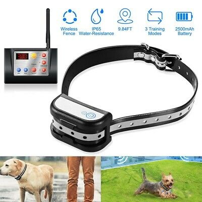 Wireless Electric Dog Pet Fence Containment System  Training Collar Waterproof
