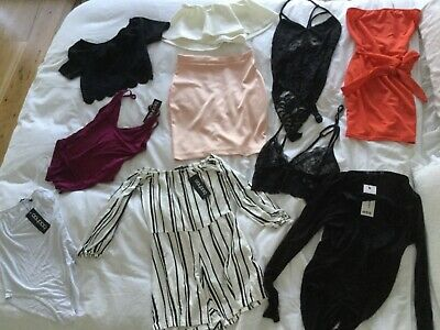 10 items of assorted boo hoo clothing new and worn UK size 10