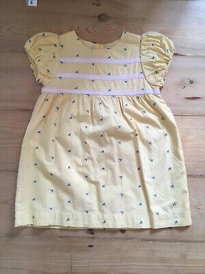 Boden girls, yellow dress, 18-24 months with matching knickers.