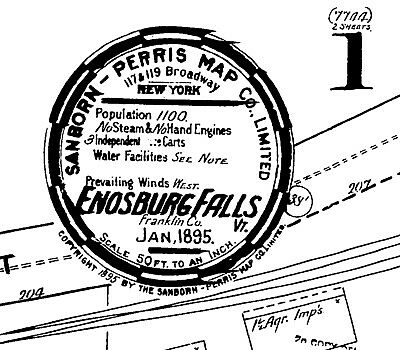 Enosburg Falls, Vermont~Sanborn Map© sheets~13 maps from the microfilm reel