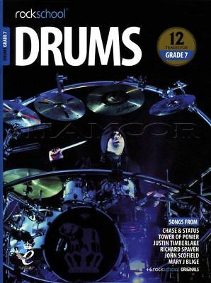 Rockschool Drums Grade 7 2018-2024 Sheet Music Book/Audio Exercises Tests Songs