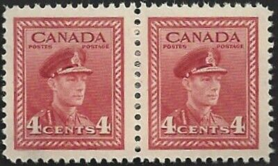 Canada  # 254 Pair  KING GEORGE VI WAR ISSUE   Brand New 1942 Pristine Issue  03