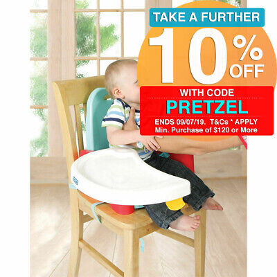 First Years Swing Booster Seat Foldable Feeding Tray for Infant Baby Toddler