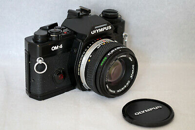 Olympus OM-4 Black & ZUIKO Auto-s 50mm f/1.8 New Seal - Serviced - Mint