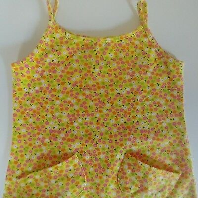 Vintage 90s The Childrens Place Girls 4T Ditsy Floral Tunic Tank Top Mini Dress