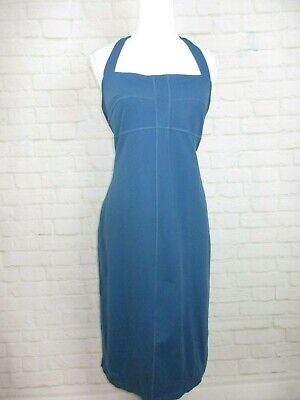 8cd93b9d1f9a Athleta women's size L Blue Athletic Dress Fitted Stretch Halter Built In  Bra