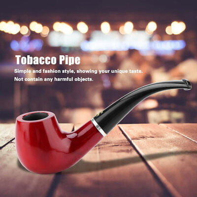 Durable Wooden Pipe Smoking Tobacco Cigar Pipes Cool Classic Gift Present 1PC