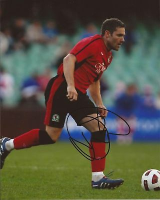 BLACKBURN * DAVID DUNN SIGNED 10x8 ACTION PHOTO+COA