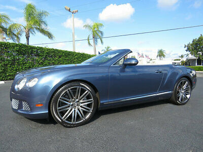 "2014 Bentley Continental GT Speed 2dr Convertible 2014 BENTLEY GTC SPEED! """"BLUE CRYSTAL METALLIC"""" JUST SERVICED"