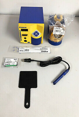 GENUINE Hakko FM-202 ESD Soldering Station WITH KEY, FM-2027, NEW Tip & Stand