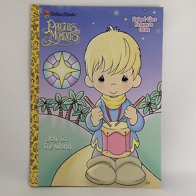 PRECIOUS MOMENTS STAINED Glass Childrens Coloring Book Joy To The ...