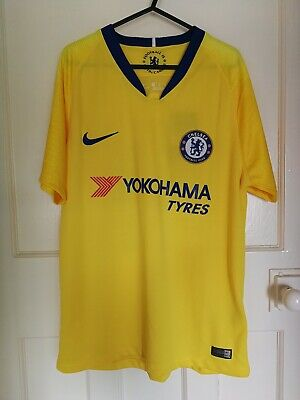 New Chelsea Mens Away Shirt 2018/19 Size Medium Pedro 11 Spain Epl