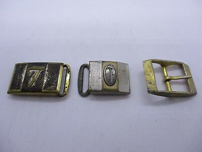 Vtg Belt Buckle Lot Hickok Monogramed Etc