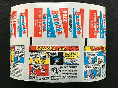 A&BC Early 70's 1/2p Bazooka Joe Wax Gum Wrappers Factory Uncut Set of 14 Comics